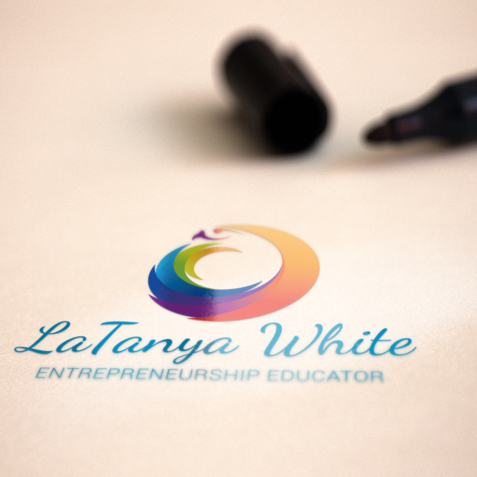 Latanya White Logo Mockup Color-1